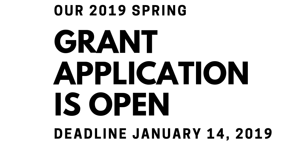 2019 Spring grant applications are open