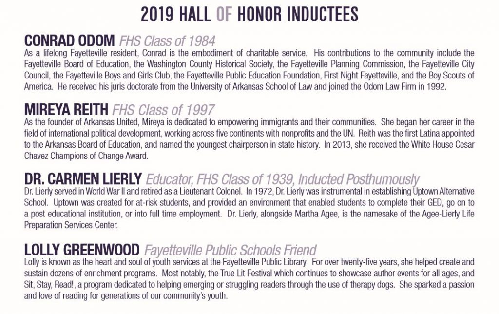 hall of honor bios
